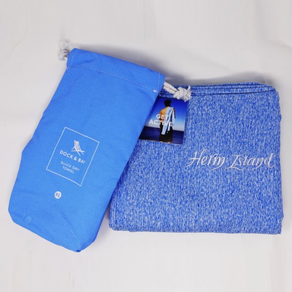 DOCK AND BAY ACTIVE TOWEL BLUE
