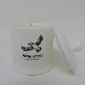 Herm Island Puffin Condiment Jar Candle