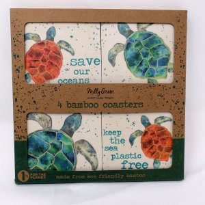 bamboo save the oceans coasters