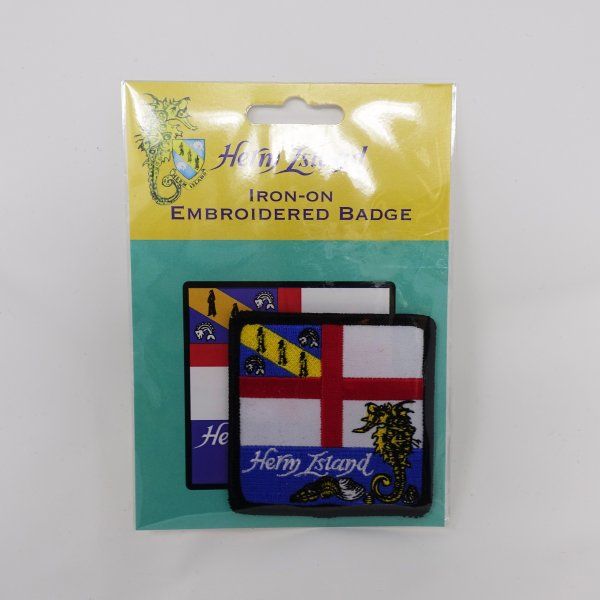 Herm Island Flag Embroidered Badge